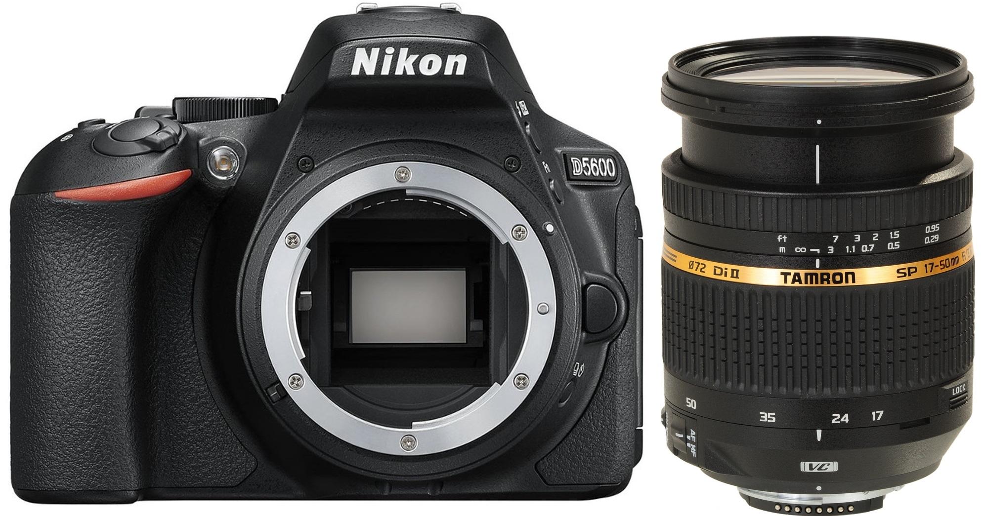 NIKON D5600 černý + TAMRON 17-50 mm VC