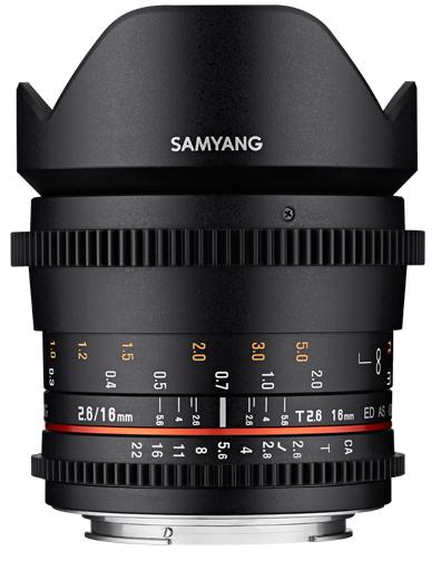 SAMYANG 16 mm T2,6 ED AS UMC pro Pentax
