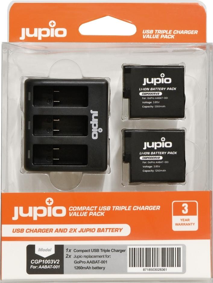 JUPIO GoPro Charger +2x bat 5/6/7
