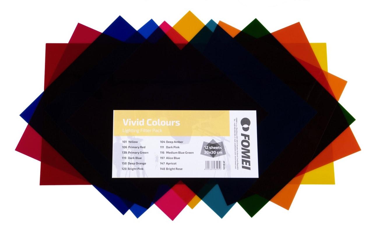 FOMEI Vivid Colours sada barevných filtrů 30x30cm