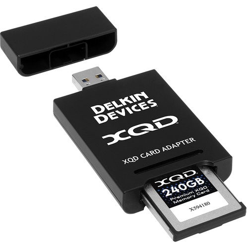 DELKIN čtečka karet XQD, USB 3.1