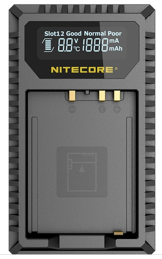 NITECORE NC-FX1 nabíječka pro 2 aku Fujifilm NP-FW126/126S