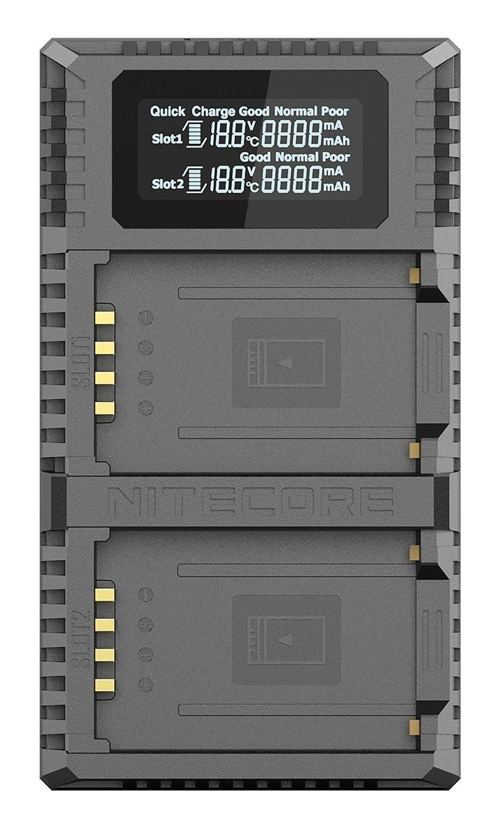 NITECORE NC-FX2 PRO nabíječka pro 2 aku Fujifilm NP-T125