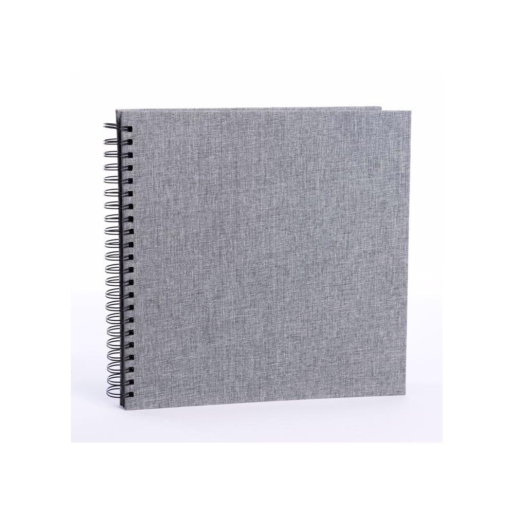 FOCUS BASE LINE CANVAS  klasické/50 černých  stran, 30x30, kroužková vazba, šedé