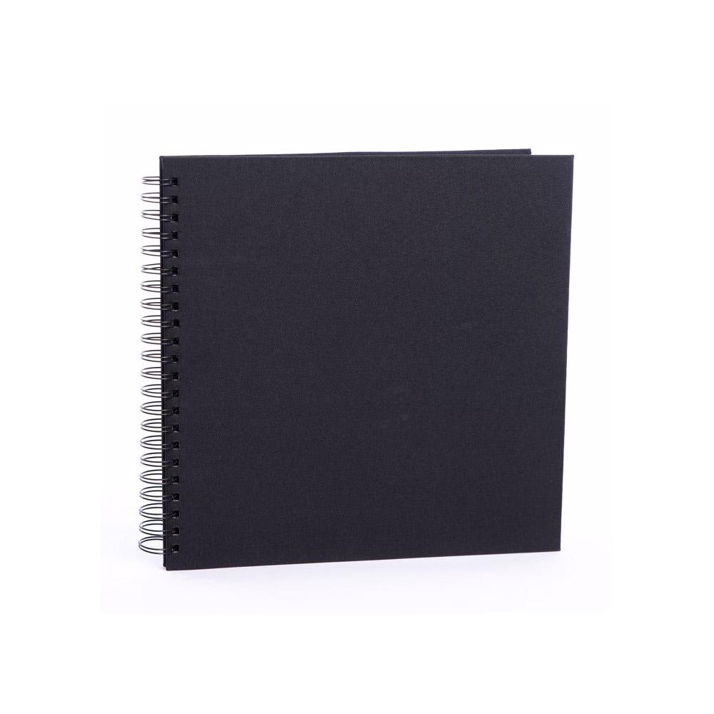 FOCUS BASE LINE CANVAS  klasické/50 černých  stran, 30x30, kroužková vazba, černé