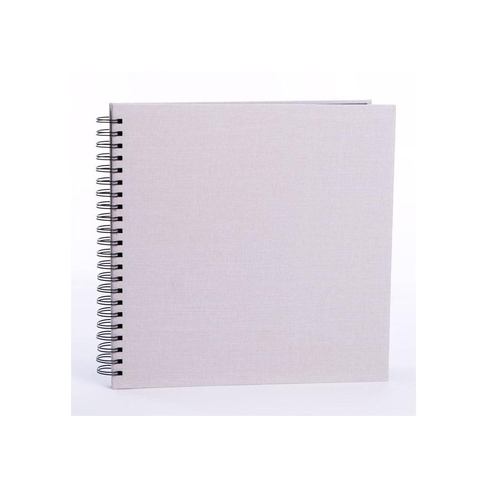 FOCUS BASE LINE CANVAS  klasické/50 černých  stran, 30x30, kroužková vazba, béžové