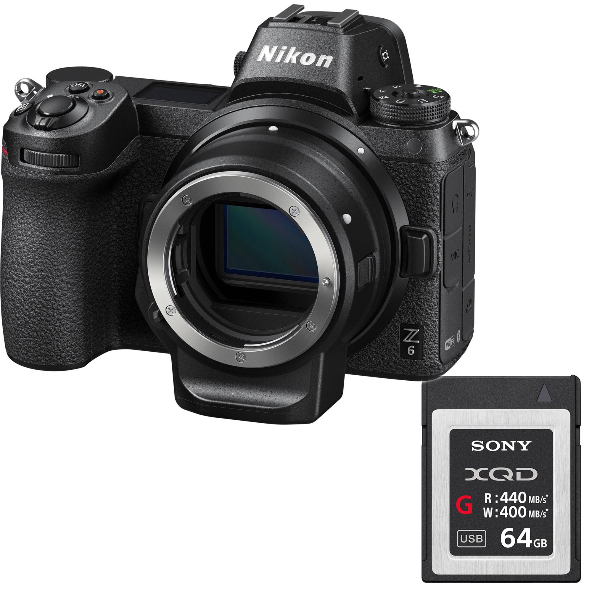 NIKON Z6 + FTZ adaptér + XQD 64GB