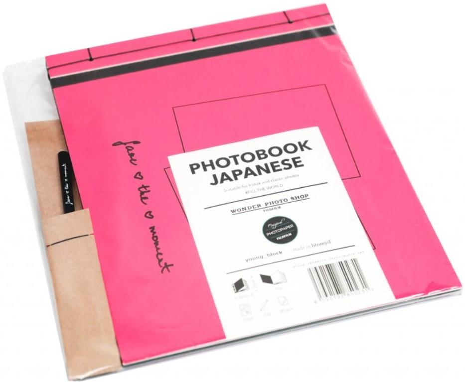 FUJIFILM INSTAX JAPANESE album na fotografie - růžovo-černé