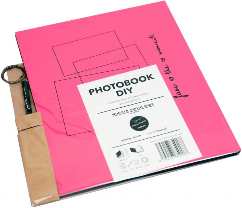 FUJIFILM INSTAX DIY album na fotografie - růžovo-černé