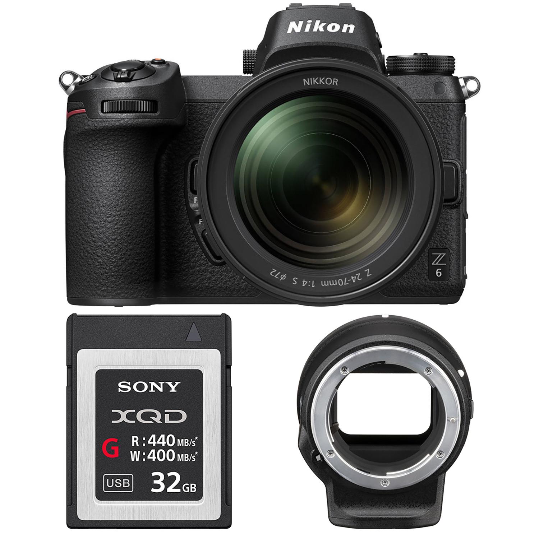 NIKON Z6 + 24-70 mm + FTZ adaptér + XQD 64GB