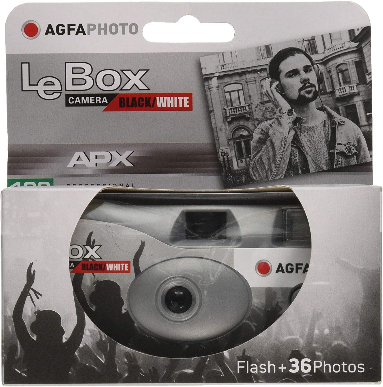 AGFAPHOTO LeBox Black/White jednorázový fotoaparát s bleskem 400/36