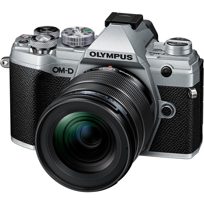 OLYMPUS E-M5 Mark III stříbrný + 12-45 černý
