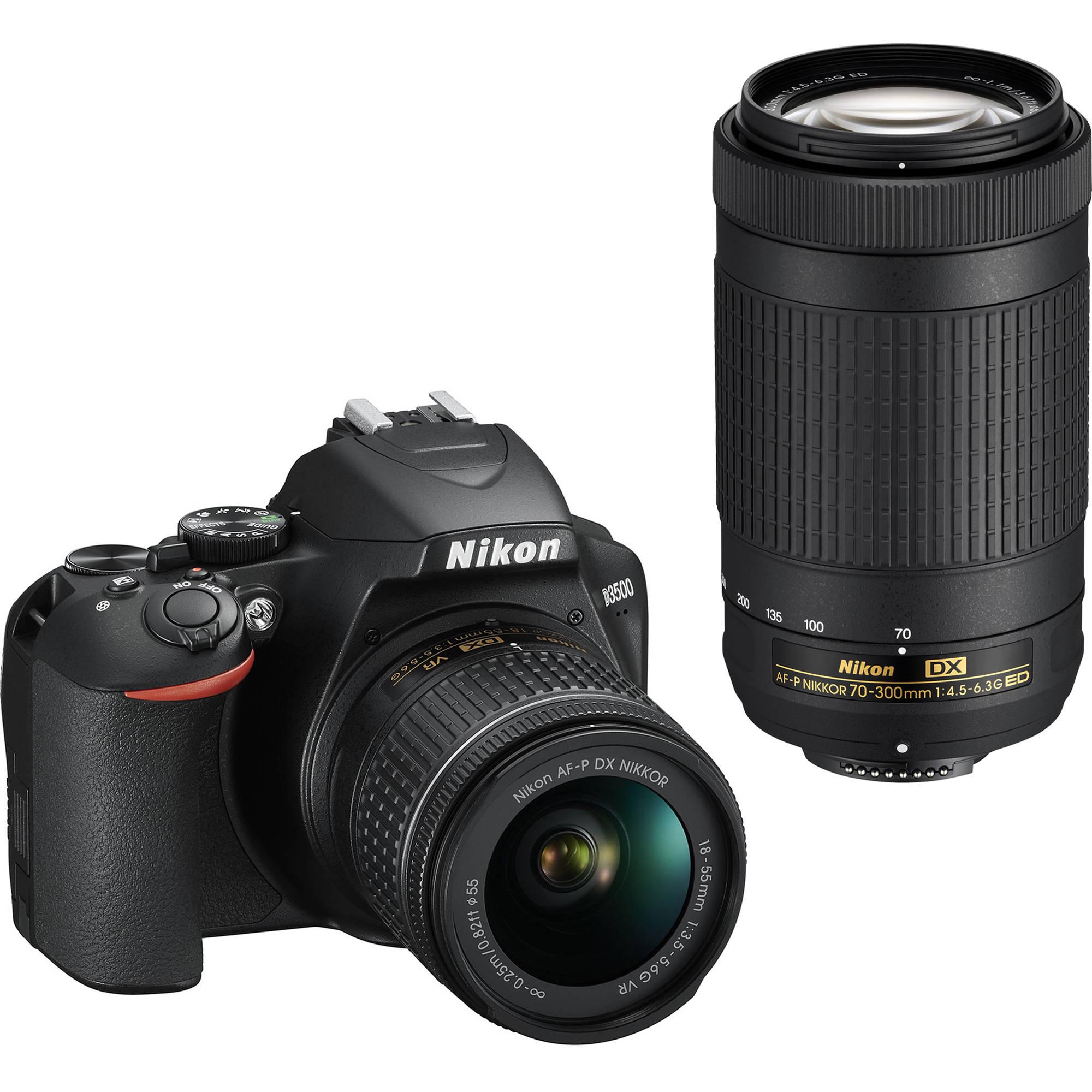NIKON D3500 + 18-55 mm + 70-300 mm NON VR