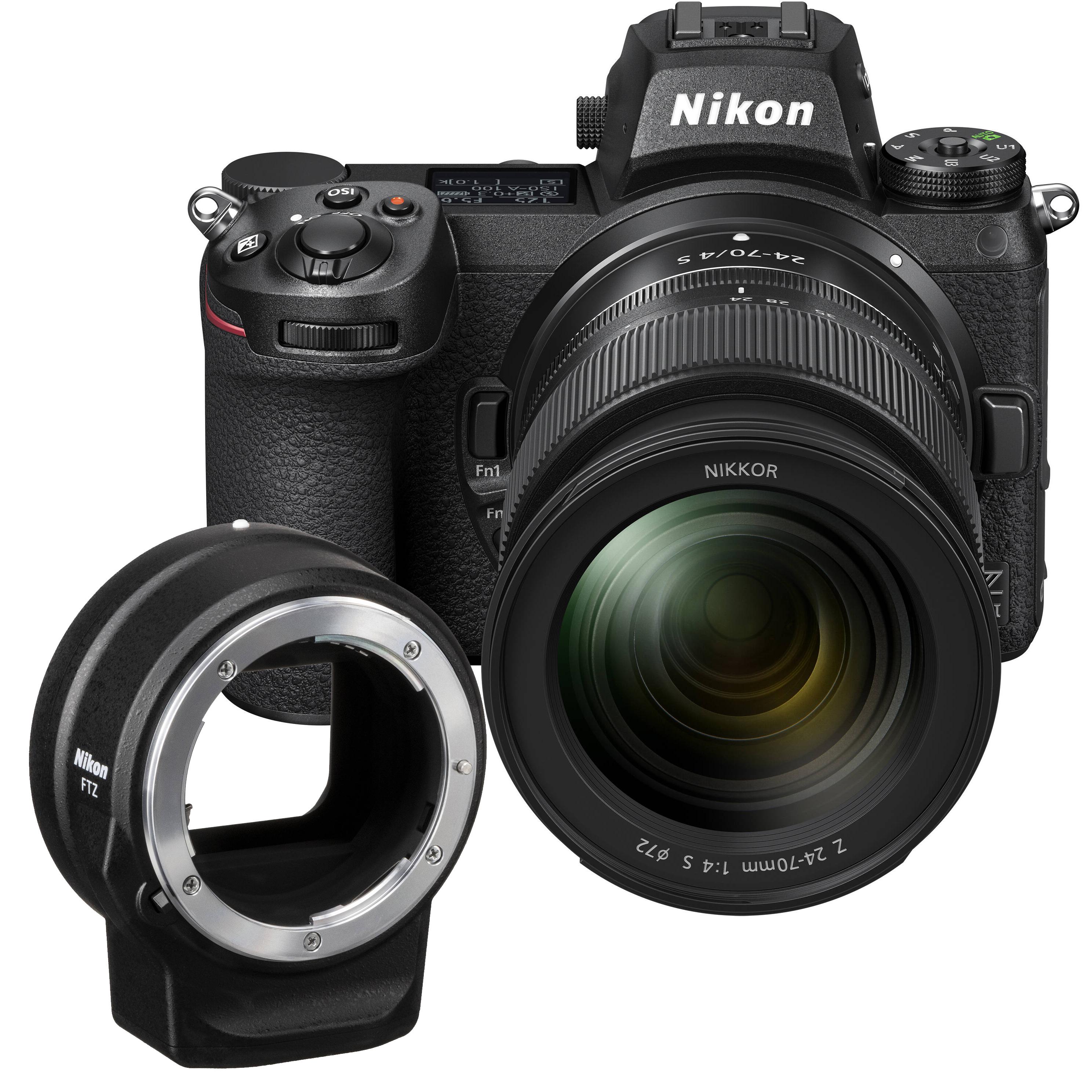 NIKON Z6 II + 24-70mm + FTZ adaptér