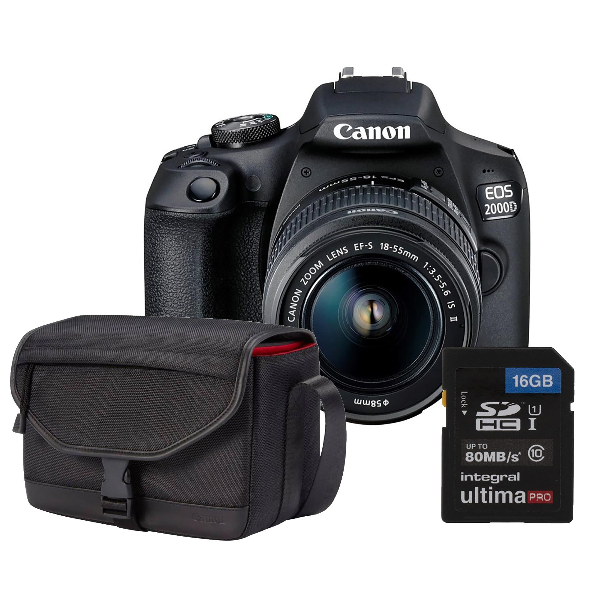 CANON EOS 2000D + 18-55 mm IS II + brašna SB130 + karta 16GB