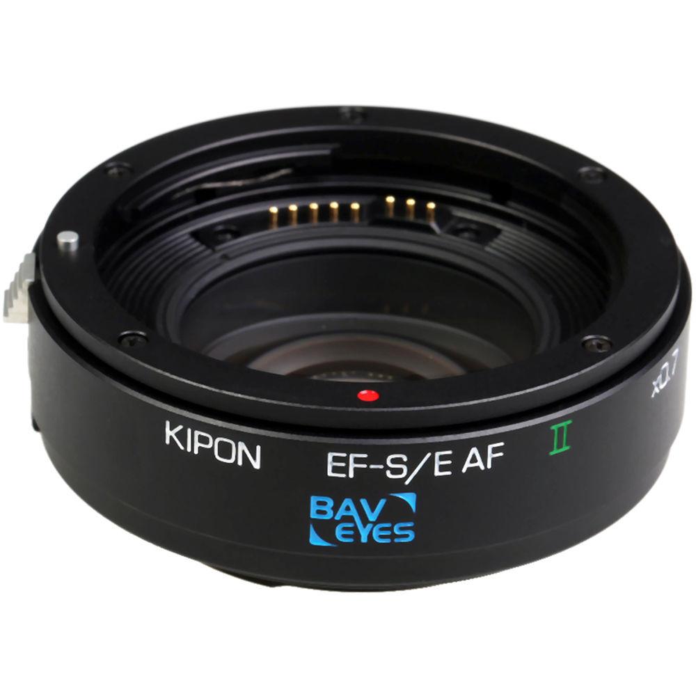 KIPON adaptér objektivu Canon EF na tělo Sony E AF II 0,7x