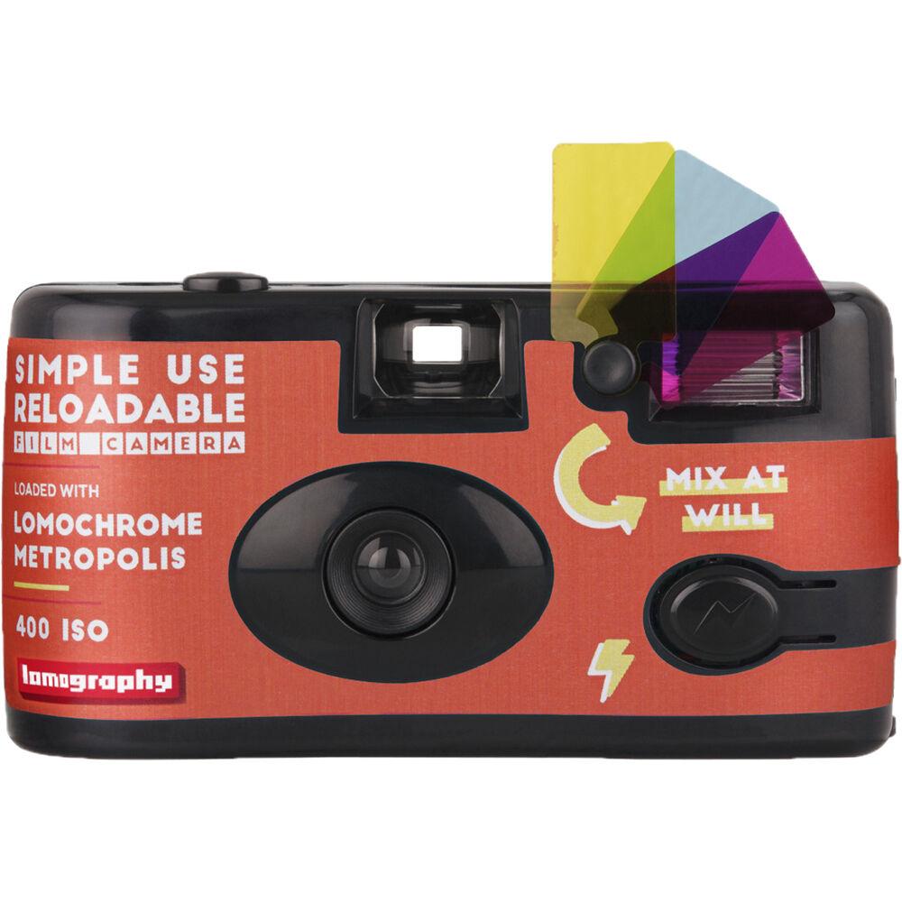 LOMOGRAPHY COLOR jednorázový fotoaparát s bleskem Metropolis 400/36