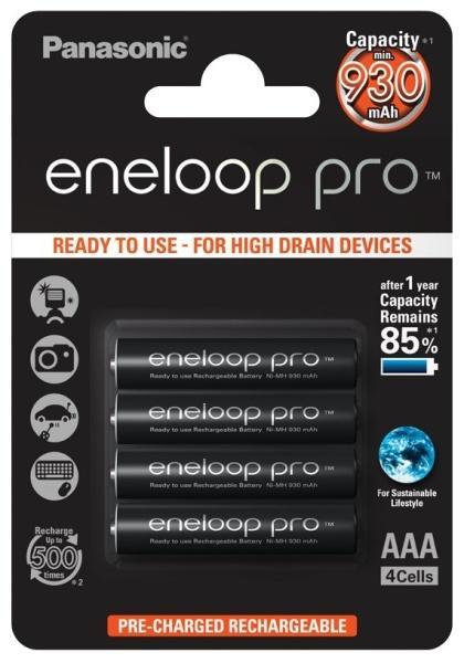 PANASONIC Eneloop Pro AAA NiMH 930 mAh/4ks