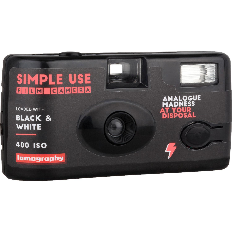 LOMOGRAPHY fotoaparát s bleskem Black and White 400/36
