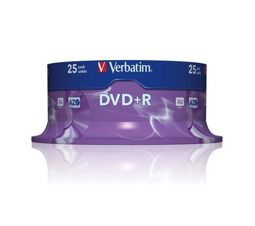 VERBATIM DVD+R 4,7GB spindle 25pack