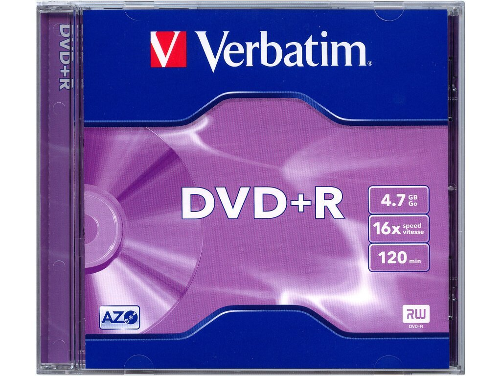 VERBATIM DVD+R 4,7GB jewellcase