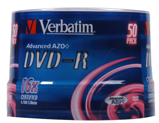 VERBATIM DVD-R 4,7GB spindle 50pack