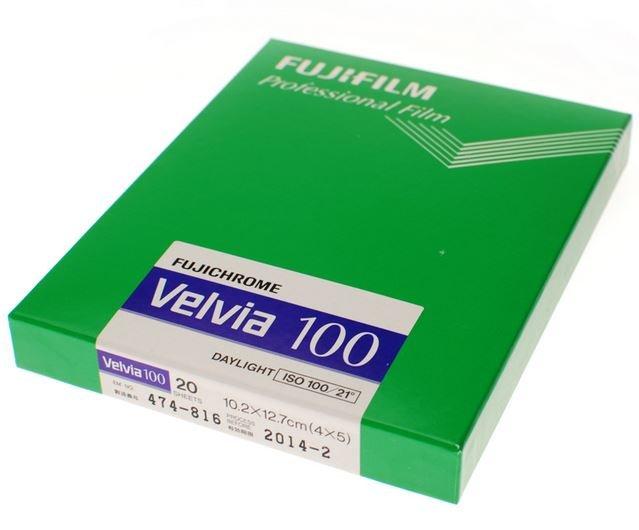 FUJI Velvia 100 10,2x12,7 cm (4x5