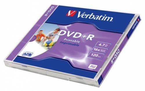 VERBATIM DVD+R 4,7GB PRINTABLE jewelcase