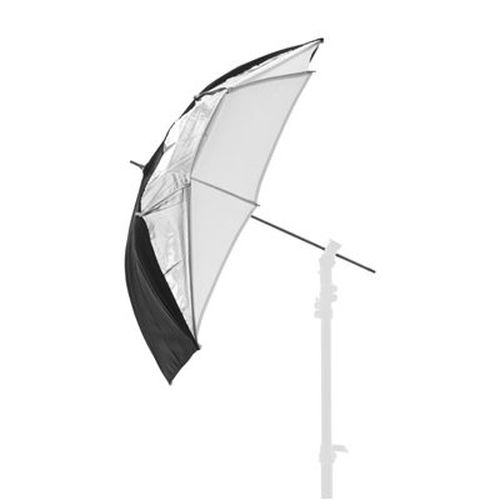 LASTOLITE 4523 deštník 100 cm černá/stříbrná/bílá