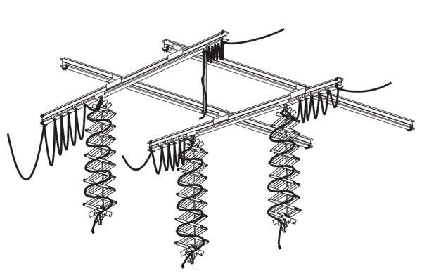 FOMEI  Stropní systém I. 3x3m pro 3 světla