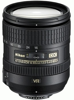 NIKON 16-85 mm f/3,5-5,6 G AF-S DX ED VR