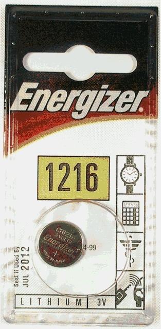 ENERGIZER CR 1216 / 1ks