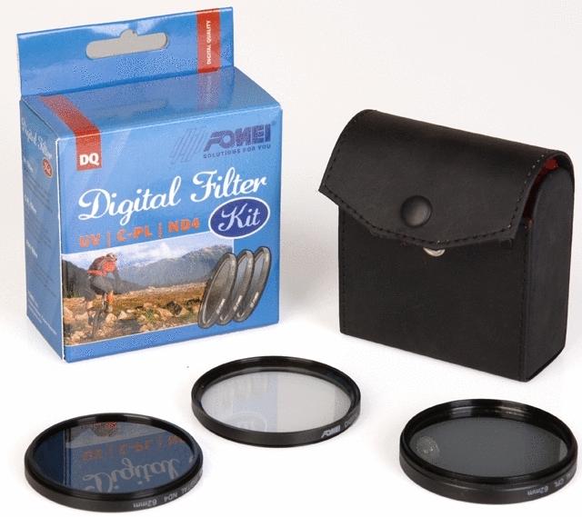FOMEI set filtrů UV + PL-C + ND4 52mm