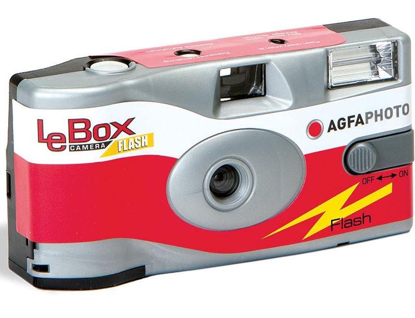 AGFA LeBox jednorázový fotoaparát s bleskem ISO 400/27 snímků