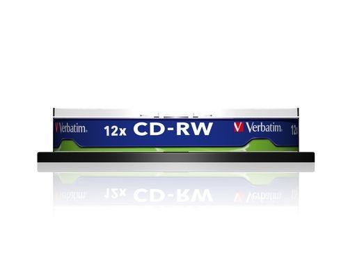 VERBATIM CD-RW 700MB spindle 10pack