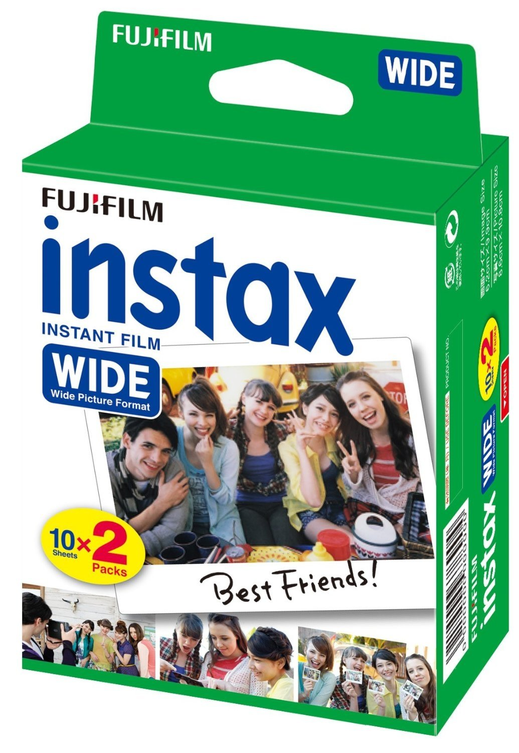 FUJIFILM INSTAX COLORFILM WIDE (20KS)