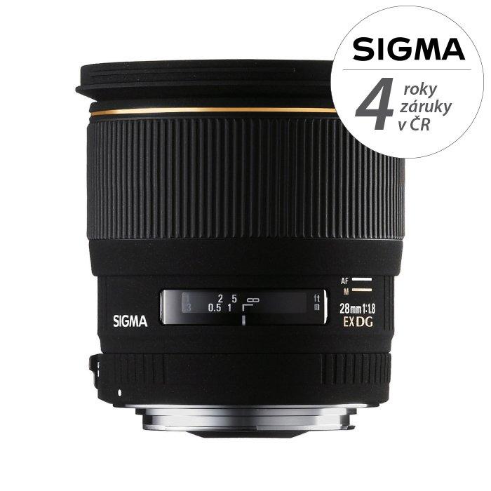 SIGMA 28 mm f/1,8 EX DG Asph. RF pro Minoltu/Sony A