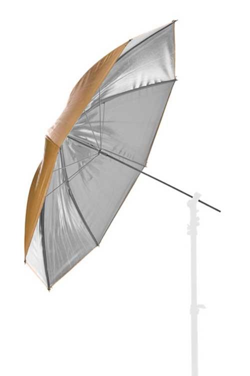 LASTOLITE 4534 deštník 100 cm stříbrná/zlatá