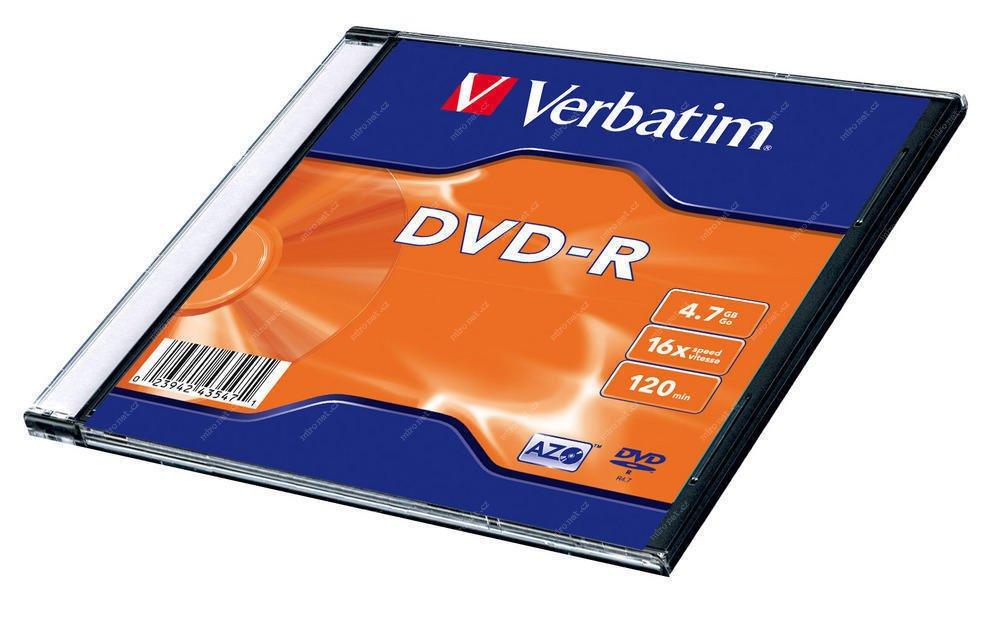 VERBATIM DVD+R 4,7GB slimbox