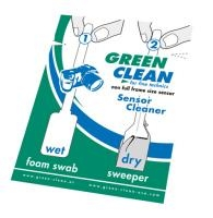 GREEN CLEAN sensor cleaner wet and dry non full size 1ks SC4070