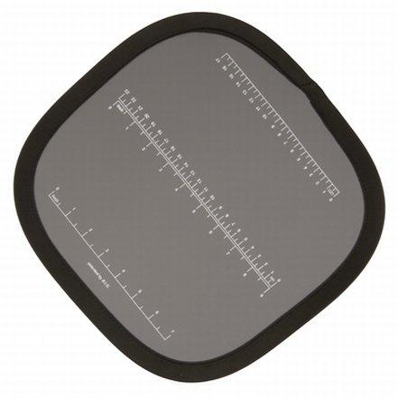 HELIOS skládací šedá tabulka s cm a inch škálou 30x30 cm 428330