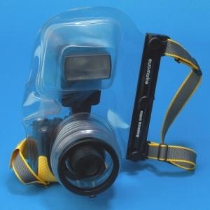 EWA-MARINE D-AX měkké podvodní pouzdro pro elektronické zrcadlovky + ext. blesk