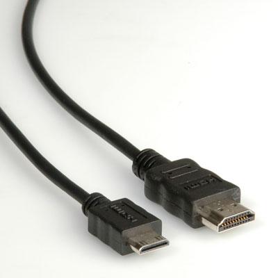 ROLINE HDMI A - HDMI mini C, 3m (pro videokamery)