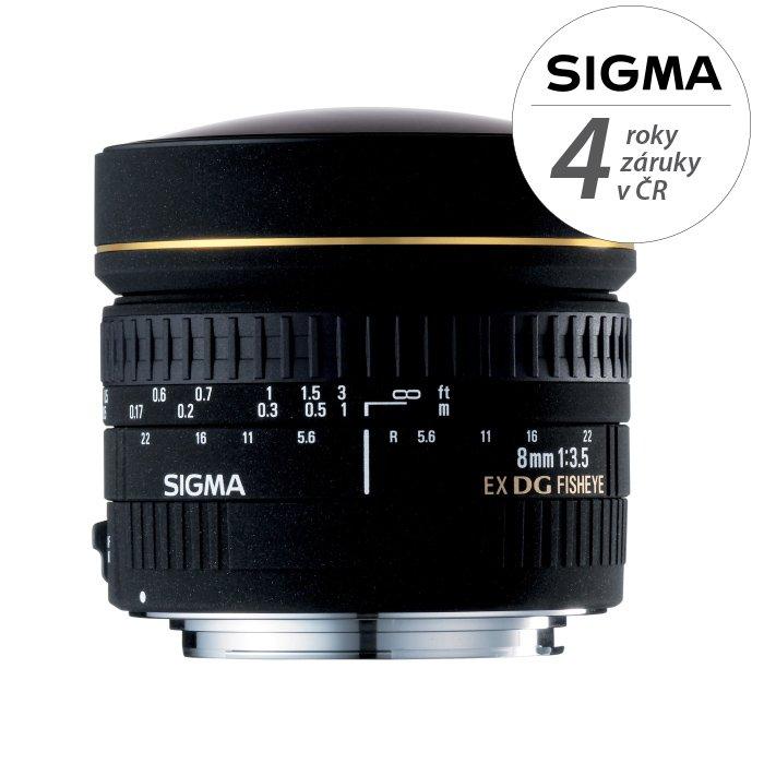 SIGMA 8 mm f/3,5 EX DG Fisheye circular pro Nikon