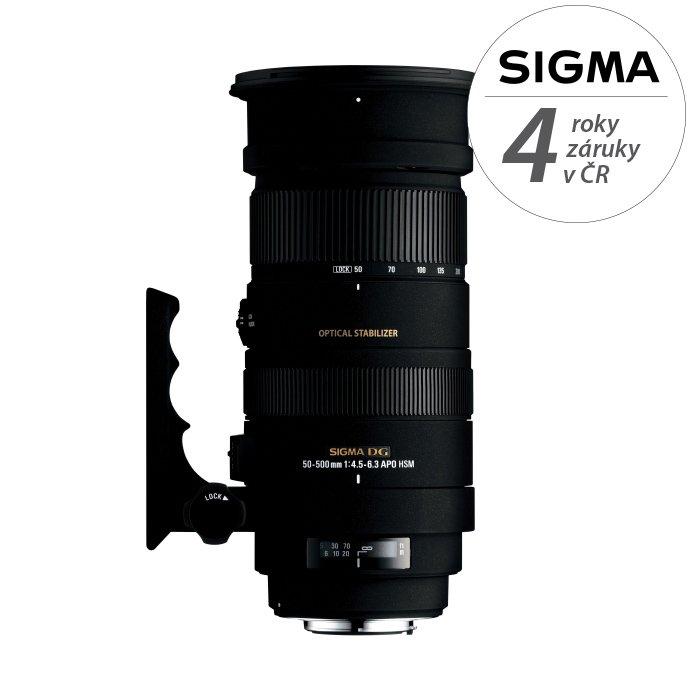 SIGMA 50-500 mm f/4,5-6,3 APO DG OS HSM pro Nikon