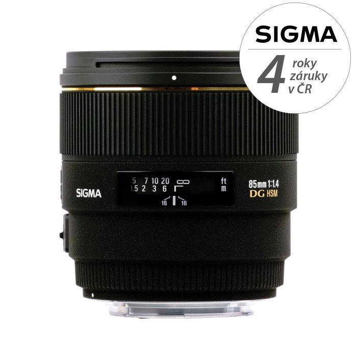 SIGMA 85 mm f/1,4 EX DG HSM pro Nikon