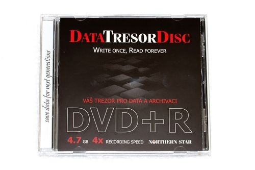 DATA TRESOR DISK DVD+R 4,7GB jewellcase