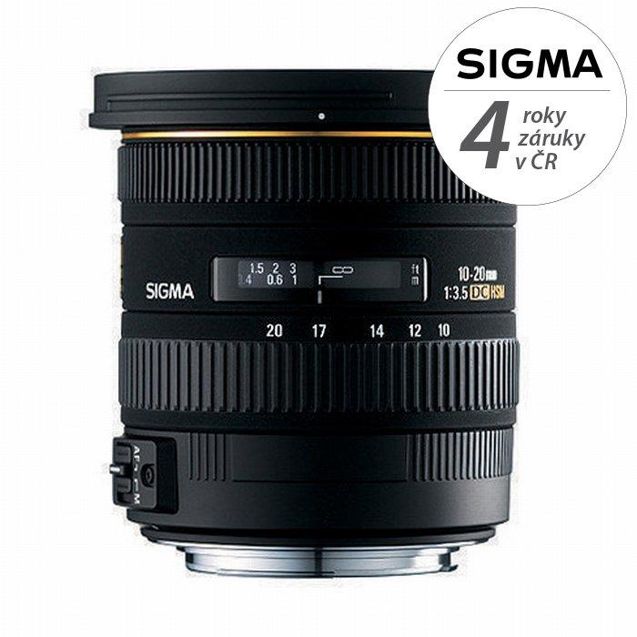 SIGMA 10-20 mm f/3,5 EX DC HSM pro Sigmu