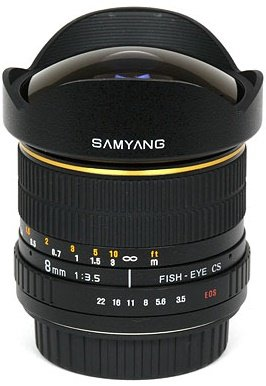 SAMYANG 8 mm f/3,5 MC Fish-eye CS pro Canon (APS-C)