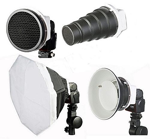 FOMEI Creative set pro DSLR blesky (vošt.filtr,komínek,softbox,beauty dish)